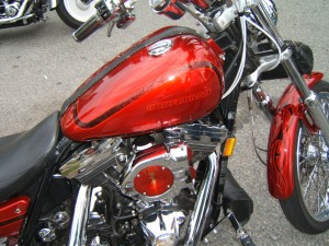 Bill clapper Red 91 Harley Low Rider 3