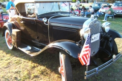 1930 Maroon Model A Ford Convertible  Roland